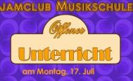 Offener Musikunterricht - unsere Sonderaktion ab Montag 17. Juli 2017