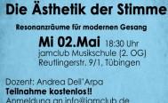 Abendseminar: Die Ästhetik der Stimme. Mittwoch, 2. Mai jamclub Musikschule