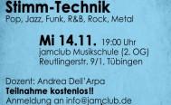Vokalseminar Simmtechnik am Mittwoch, 14. November