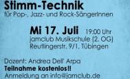 Abendseminar: Stimm-Technik am Mittwoch, 17. Juli