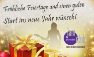 Wir wünschen allen fröhliche Festtage!