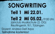 Abendseminar SONGWRITING  Teil 2: Mi 05.02.