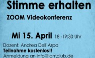 Abendseminar: Stimm-Technik am Mittwoch, 15. April
