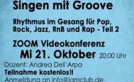 Abendseminar Rhythmik und Groove für Vokalisten Mittwoch, 21. Oktober