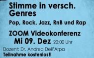 Abendseminar für Vokalisten Mittwoch, 09. Dezember